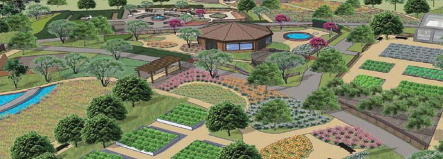 A digital rendering of the Gardens.
